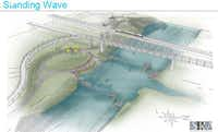 """<p><span style=""""font-size: 1em; background-color: transparent;"""">An early rendering of what we did NOT get when Dallas sunk the """"Standing Wave"""" in the Trinity.</span></p>"""