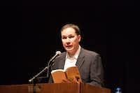 Jamie Ford spoke at Highland Park High School on Thursday.