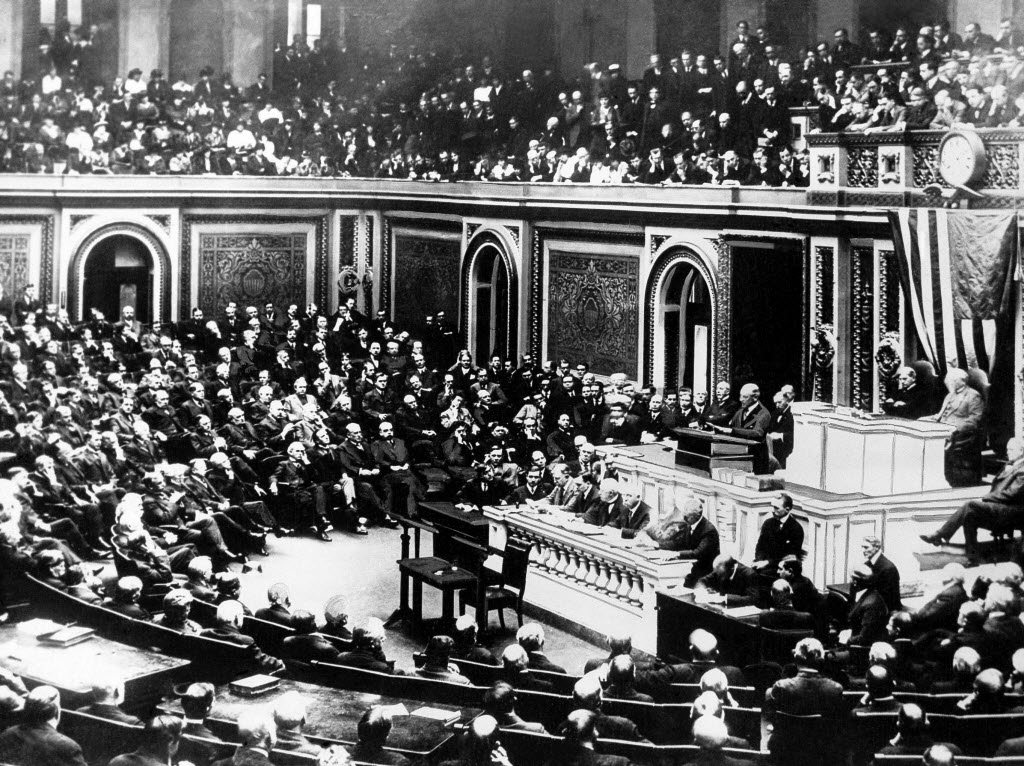 AP WAS THERE: US Congress declares war during WWI