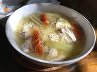 Ah, what better than dining critic Leslie Brenner's chicken soup?<div><br></div>(Leslie Brenner/Staff)