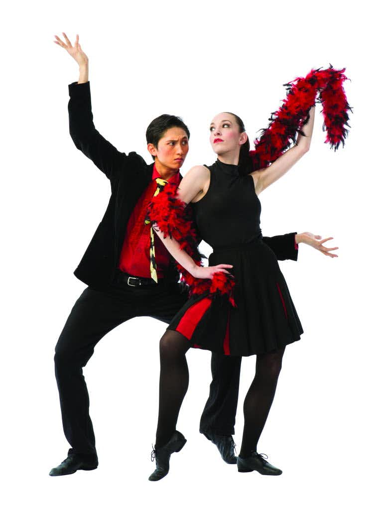 """Jiyan Dai and Katelyn Clenaghan in the Texas Ballet Theater production of Christopher Bruce's <i>Rooster</i>.<p><span style=""""font-size: 1em; background-color: transparent;"""">Steven Visneau</span><br></p><p><br></p>"""