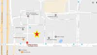 """<span style=""""font-weight: normal;"""">The star marks where Code 3 ER and Urgent care will be situated at the Dallas-Fort Worth International Airport</span>Google Maps"""