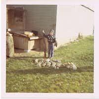 <p></p><p>Pete Delkus at age 4, with gun and quail</p><p></p>