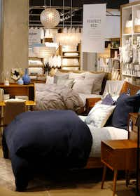 The Plano West Elm has a large bedding selection and bed displays.((Vernon Bryant/Staff Photographer))