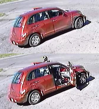 "<p><span style=""font-size: 1em; background-color: transparent;"">The shooter fled the 4800 block of Sunnyvale Street in a red PT Cruiser that was being driven by a second person.</span></p>(Dallas Police Department)"