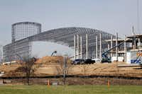 The Epic construction continues in Grand Prairie on Thursday, March 2, 2017. The Epic will feature an indoor water park. (Vernon Bryant/The Dallas Morning News)Staff Photographer