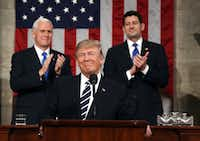 President Donald Trump spoke only of general principles for replacing Obamacare during his address to Congress this week. (Jim Lo Scalzo/The Associated Press)