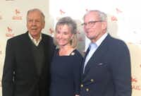 From left, T. Boone Pickens, Toni Pickens and former NBC Nightly News anchor Tom Brokaw at Park Cities Quail((Alan Peppard/The Dallas Morning News))