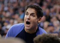 "In this Dec. 16, 2016 file photo, Dallas Mavericks owner Mark Cuban shouts to his team in the first half during an NBA basketball game against the Utah Jazz  in Salt Lake City.  Cuban questioned the effectiveness of President Donald Trump's executive order restricting immigration from seven countries, citing the ""hypocrisy"" of limiting immigration from some countries while not including others. (AP Photo/Rick Bowmer)AP"
