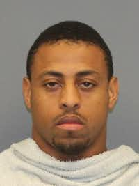 Mug of Greg Hardy arrest by Richardson police on 9/25/2016.(Richardson Police Department)