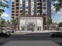 Renovation of Trammell Crow Center includes a new entry on Ross Avenue.(Stream Realty)