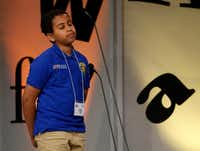 """Mena Eyob closes his eyes after misspelling """"erbium"""" Saturday at the Dallas Regional Spelling Bee.&nbsp;(<p><span style=""""font-size: 1em; background-color: transparent;"""">(Vernon Bryant/The Dallas Morning News)</span></p>)"""