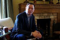 """Author Andrew Solomon at his home in Fort Worth, Texas on Friday, February 25, 2017.(<p><span style=""""font-size: 1em; background-color: transparent;"""">(Lawrence Jenkins/Special Contributor)</span><br></p><p></p>)"""