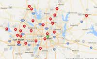 RadioShack has 23 stores in Dallas-Fort Worth, according to its website's store locator. (Google Maps )