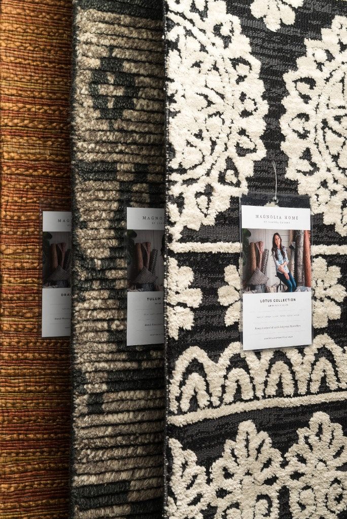 loloi rugs of dallas worked with magnolia home by joanna gaines to make rugs pillows