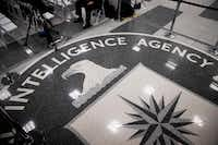 The Central Intelligence Agency seal on the floor before President Donald Trump's remarks during a visit to CIA headquarters in Langley, Va., Jan. 21, 2017. On Tuesday, WikiLeaks released thousands of documents that it said described sophisticated software tools used by the CIA to break into smartphones, computers and even Internet-connected televisions. (Doug Mills/The New York Times)
