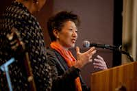 Jane Chu, chairwoman of the National Endowment for the Arts, spoke at the Curtis M. Phillips Center for the Performing Arts in Gainesville, Fla., in February. Republicans from politically red states could be decisive in saving federal funds for the arts and humanities agencies, which are facing deep cuts or possible elimination under President Donald Trump. Chu declined to discuss the pressures likely facing her agency, whose budget of $148 million is less than what was allotted two decades ago before big cuts. (Charlotte Kesl/The New York Times)