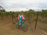 Bicycling is a great way to combine exercise, sightseeing and wine-tasting at places like Oak Farm Vineyards in Lodi wine country.(Robin Soslow)