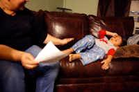 Glenda Flores Martinez is seeking asylum in the U.S. She fled great violence in Honduras with her children. (Tom Fox/The Dallas Morning News)