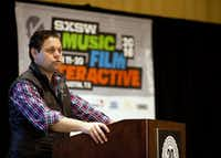 Trey Bowles, the co-founder and CEO of Dallas Entrepreneur Center acted as the emcee during ReleaseIt a pitch competition at SXSW in Austin, Texas on March 11, 2016.  (Thao Nguyen/Special Contributor)(Special Contributor)