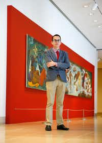 Jose Manuel Santoyo found a way to destress through art. He is a Mexican immigrant and has status under DACA, or Deferred Action for Childhood Arrivals. It provided him with a work permit so that a nonprofit could hire him to promote a new Mexican art exhibit at the Dallas Museum of Art. (Tom Fox/The Dallas Morning News)