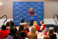Wendy Davis, former Texas state senator and 2014 candidate for Texas governor speaks at the 52nd Annual Southern Methodist University Women's Symposium on the campus of SMU in Dallas, March 8, 2017. Ben Torres/Special Contributor(Special Contributor)