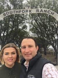 Stephanie Hoskins, of Collin County, and Brett Joseph, of New South Wales, Australia, at Southfork Ranch, site of their planned wedding and one of their first dates.(Stephanie Hoskins)