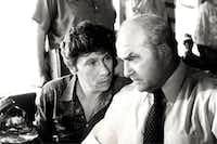 """Actor Robert Walden (left) played a journalist on the TV show """"Lou Grant"""" which starred Ed Asner (right)."""
