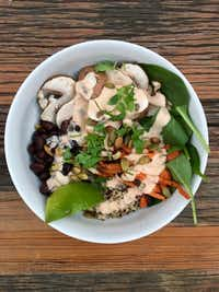 Monday bowl with Chipotle Cashew Cream sauce.((Ellise Pierce))