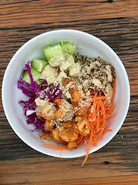 Friday bowl with miso maple sauce.((Ellise Pierce))
