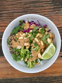 Tuesday bowl with peanut sauce.((Ellise Pierce))