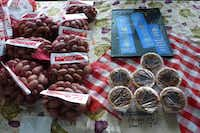 Russell Helge brings his family's pecans, mini pies and blue ribbons from Comanche County to the Dallas Farmers Market.Kim Pierce