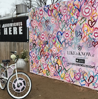 RewardStyle's outdoor photo booth on Rainey Street during SXSW is the kickoff to other similar ones that'll be set up in Dallas and other cities.(Melissa Repko/The Dallas Morning News)