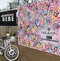 RewardStyle's outdoor photo booth on Rainey Street during SXSW is the kickoff to other similar ones that'll be set up in Dallas and other cities.((Melissa Repko/The Dallas Morning News))