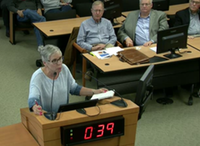 "<p><span style=""font-size: 1em; background-color: transparent;"">Janet Anders spoke at the public hearing on the study of potential economic effects of converting U.S. Highway 380 into a limited-access roadway.</span></p>((Collin County video feed))"