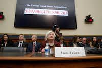 Federal Reserve Chair Janet Yellen testifies on Capitol Hill in Washington, Wednesday, Feb. 15, 2017, before the House Financial Services Committee for the Fed's semi-annual Monetary Policy Report to Congress. (AP Photo/J. Scott Applewhite)(AP)