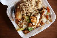 Wah Wah Chinese's House Special, with shrimp, chicken, beef and vegetable(Rose Baca/Staff Photographer)