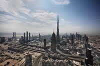 The world's tallest building, the Burj Khalifa, towers over Dubai in the United Arab Emirates, in February 2017. (The New York Times)(NYT)