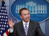 Mick Mulvaney, director of the White House Office of Management and Budget. (Manuel Balce Ceneta/The Associated Press)