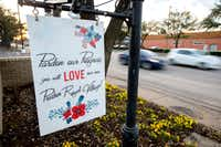 A sign advertising updates to the Preston Royal shopping center stands next to Royal Lane on Wednesday, March 8, 2017 in Dallas. (Jeffrey McWhorter/Special Contributor)Special Contributor