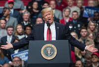 US President Donald Trump speaks during a rally in Nashville, Tennessee on March 15, 2017. (Nicholas Kamm / Getty Images)