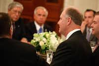 Southwest Airlines CEO Gary Kelly spoke during a meeting last month between President Donald Trump and airline executives in the State Dining Room of the White House. (Evan Vucci/The Associated Press)