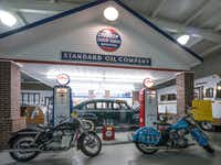 A replica of an old-fashioned gas station sits on the far end of Jack Sisemore's RV Museum in Amarillo. (<p>Dan Leeth/Special Contributor<br></p><p></p>)