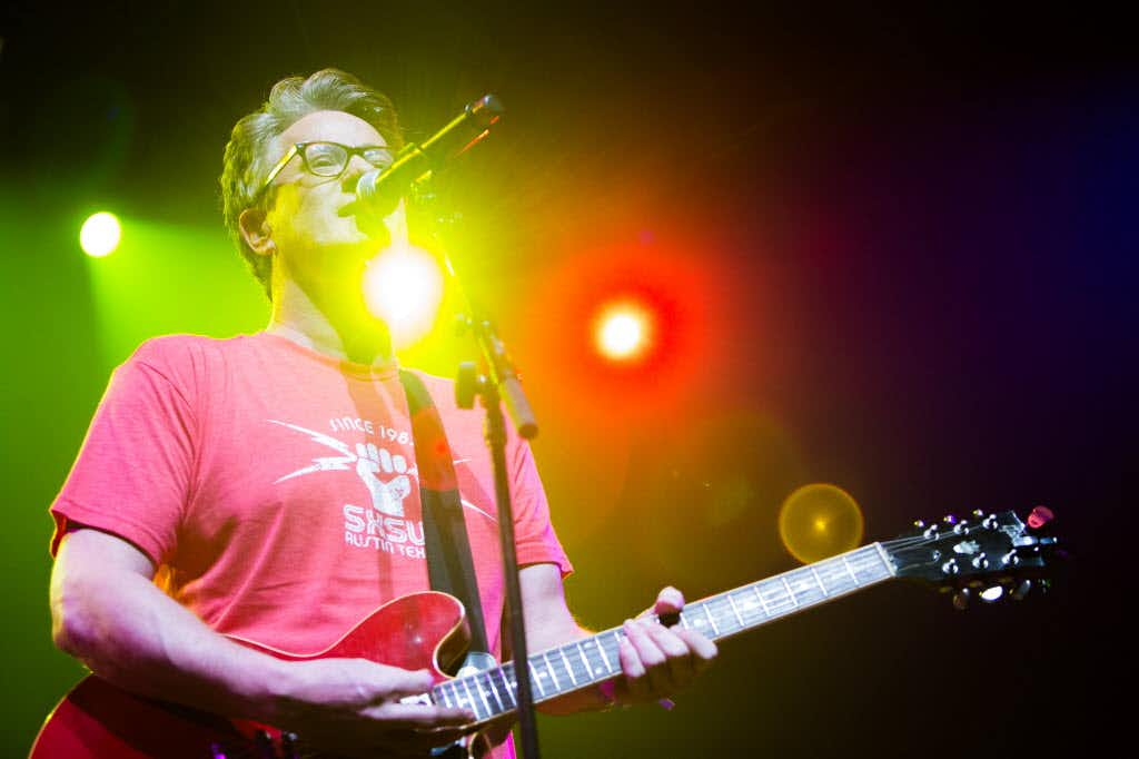 MSNBC Morning Joe host and political analyst Joe Scarborough performs with his band at ACL Live during SXSW in Austin, Texas on March 18, 2016. (Julia Robinson/Special Contributor)(Special Contributor)
