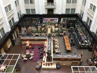 The lobby of the Nines and Urban Farmer, A Modern Steakhouse, in downtown Portland, Ore. (Starwood Hotels)