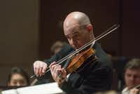"Violinist Alexander Kerr performs Sergei Prokofiev's ""Concerto No. 1 in D major for Violin and Orchestra, Op. 19"" with the Dallas Symphony Orchestra on Thursday.   (Rex C. Curry/Special Contributor)"