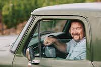Tom Gore of Tom Gore Vineyards in his vintage truckTom Gore Vineyards