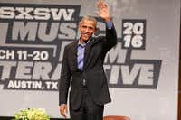 President Barack Obama waves during the opening day of South By Southwest in 2016.(Rich Fury/Rich Fury/Invision/AP)