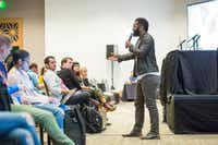 "Baratunde Thurston, a comedian and activist, took the tech industry to task for contributing to the current environment of fake news, social isolation, and political discord. (<p><span style=""font-size: 1em; background-color: transparent;"">Julia Robinson/Special Contributor</span><br></p><p></p>)"