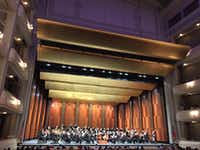 The Fort Worth Symphony Orchestra onstage at Bass Performance Hall in downtown Fort Worth, before performing the Shostakovich Symphony No. 11 on March 18, 2017. (Scott Cantrell/Special Contributor)